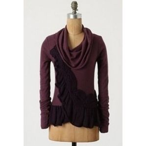 ANTHROPOLOGIE MOTH Switching Sides Cowl Sweater S